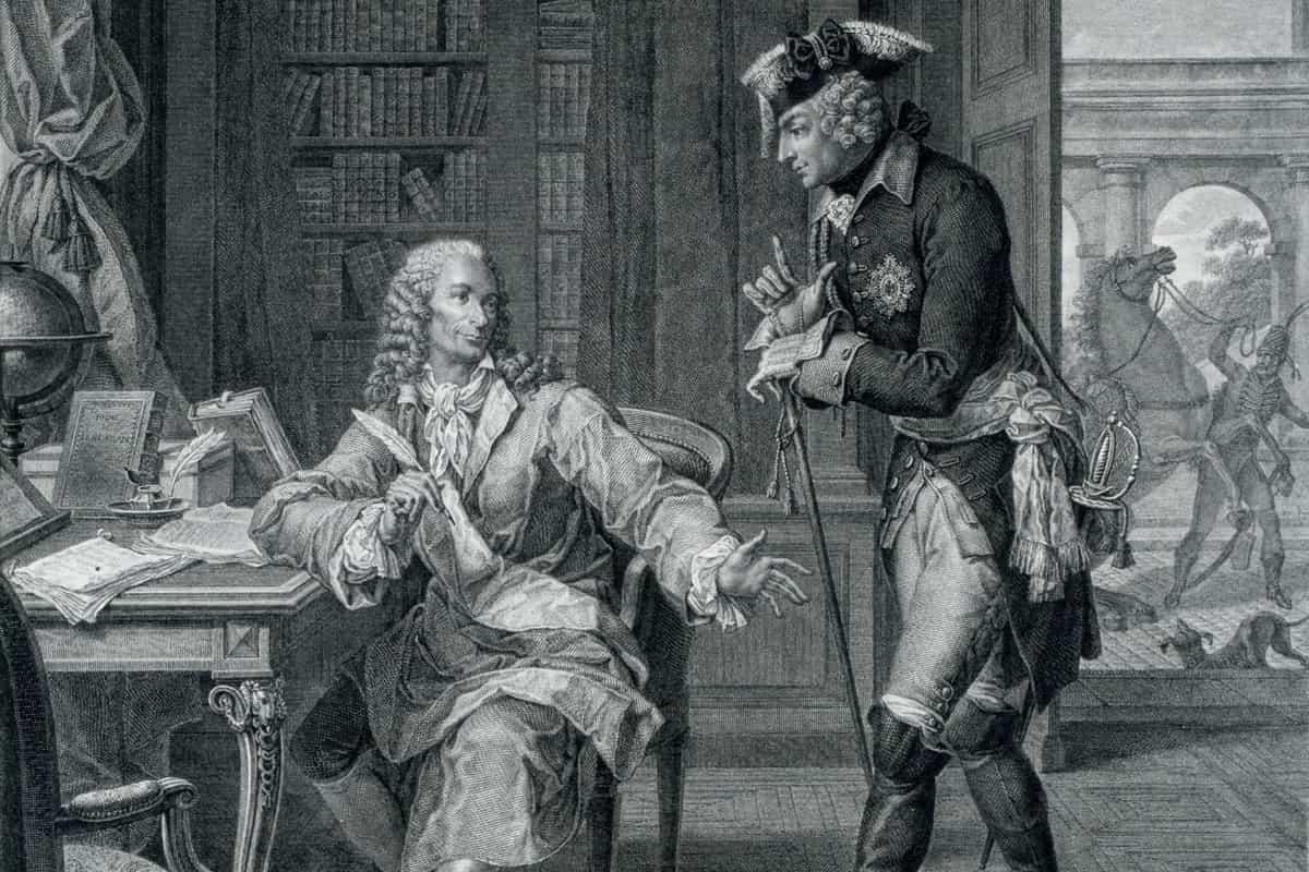 Frédéric II de Prusse et Voltaire de Pierre Charles Baquoy